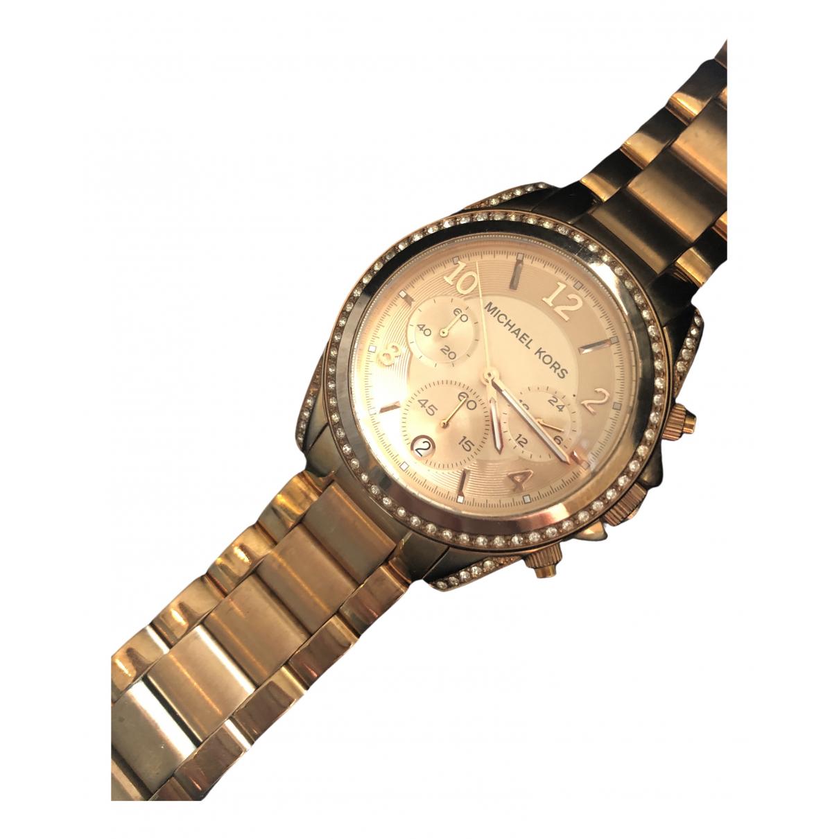 Michael Kors \N Uhr in  Metallic Stahl