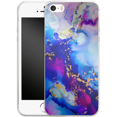 Apple iPhone 5s Silikon Handyhuelle - Cosmic Swirl IV von Stella Lightheart