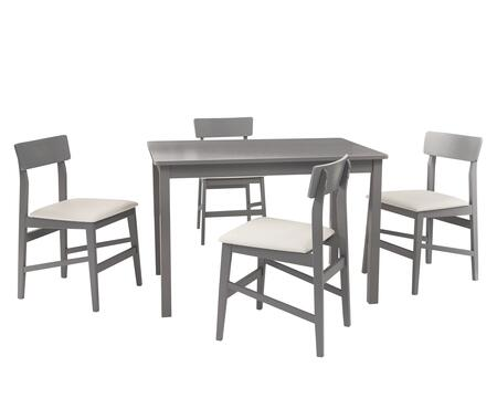 D859-10G Nori 5 Piece Set  Dining Table W/ 4 Chairs  in