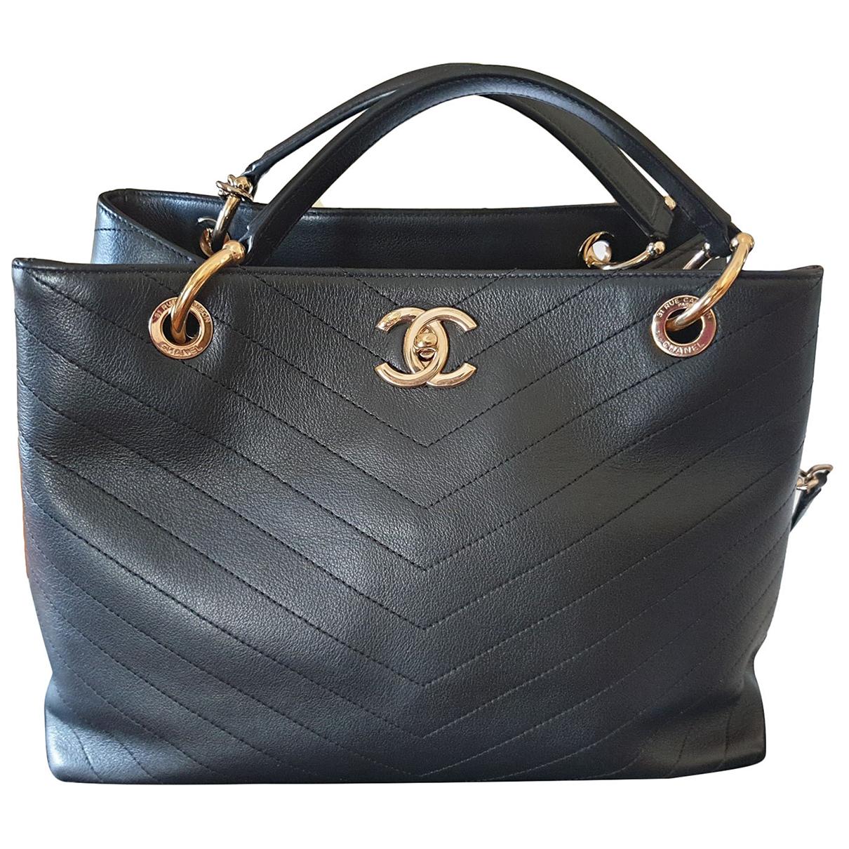 Chanel Portobello Black Leather handbag for Women N