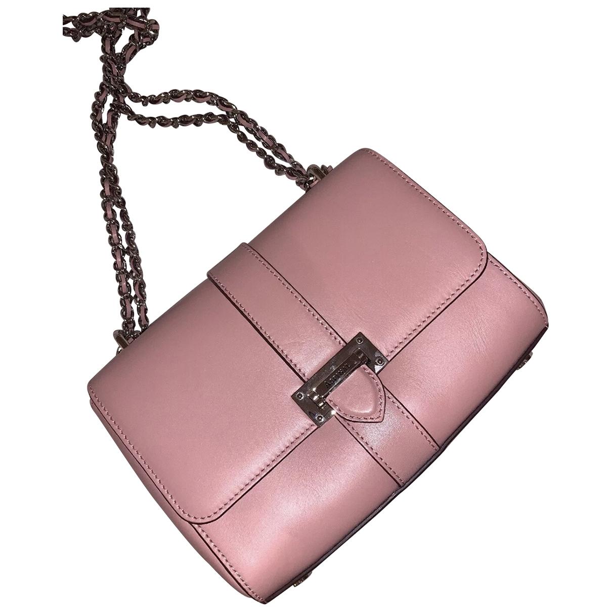 Aspinal Of London \N Handtasche in  Rosa Leder