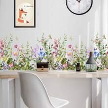 Wandaufkleber mit Blumen Muster