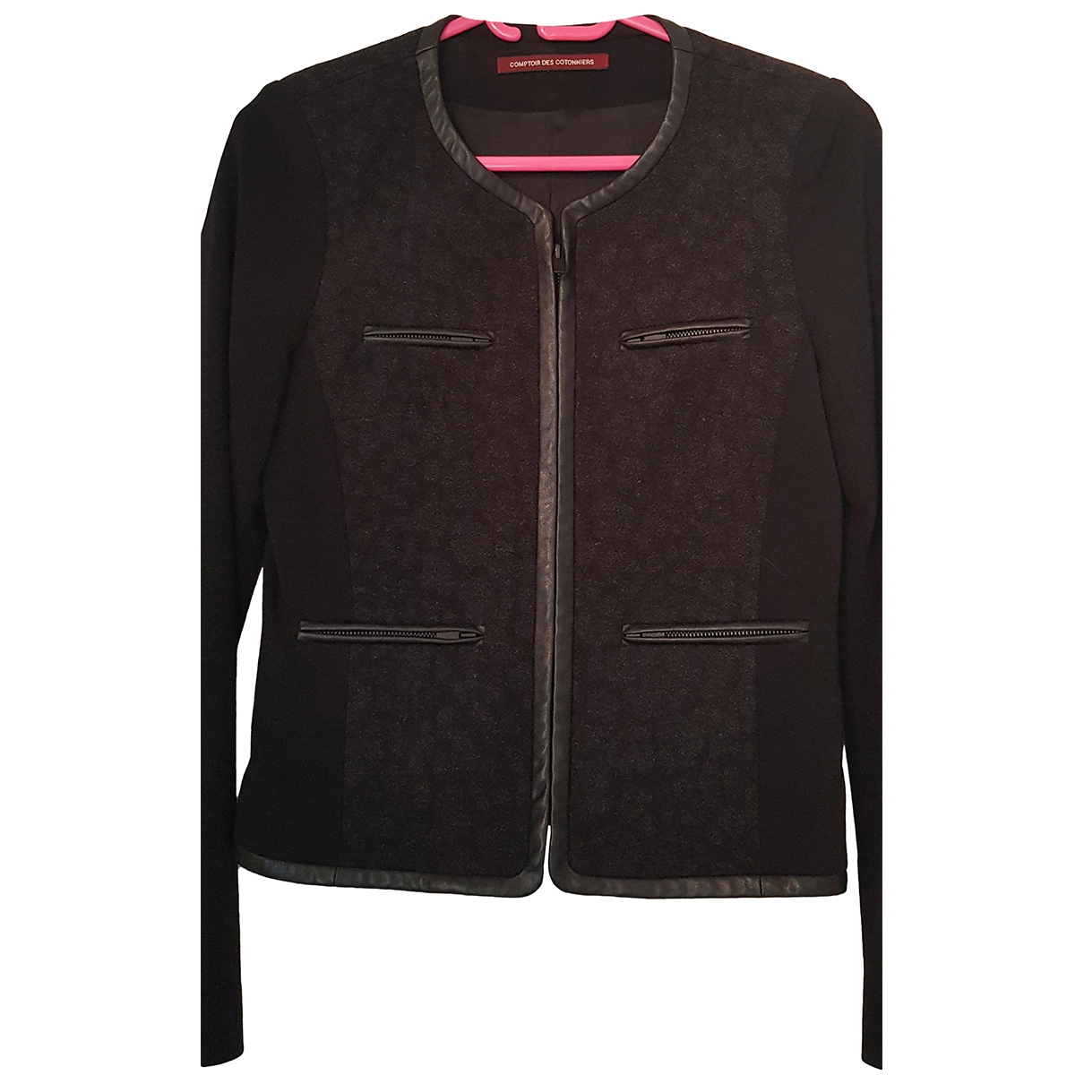 Comptoir Des Cotonniers \N Black Wool jacket for Women 36 FR