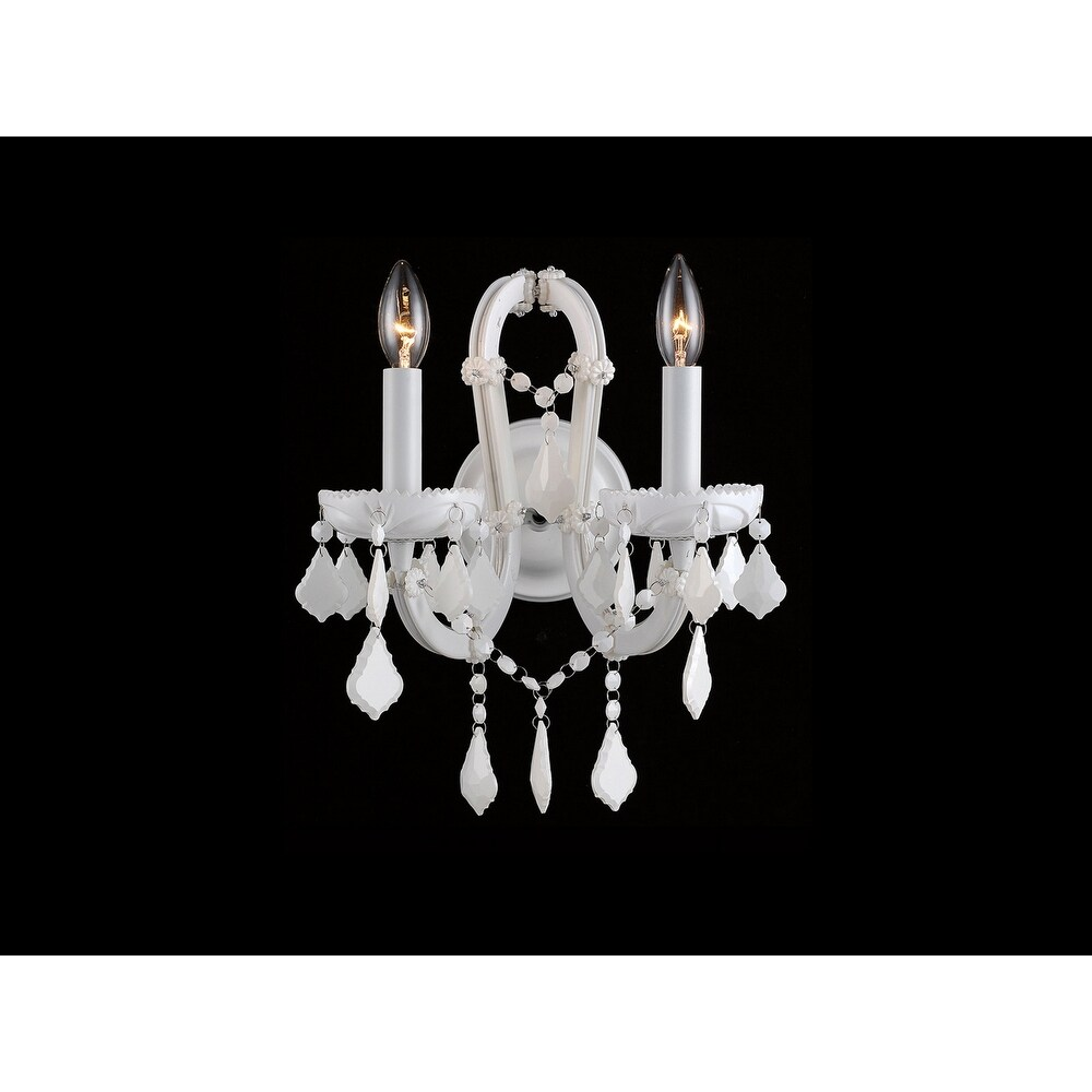 Avenue Lighting HF1041WHT Two Light Wall Sconce Casa Blanca White - One Size (One Size - Clear)