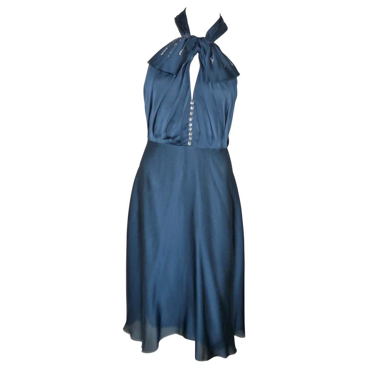 Azzaro \N Blue Silk dress for Women 38 FR
