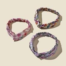 3 Stuecke Haarband mit Schmetterling Muster