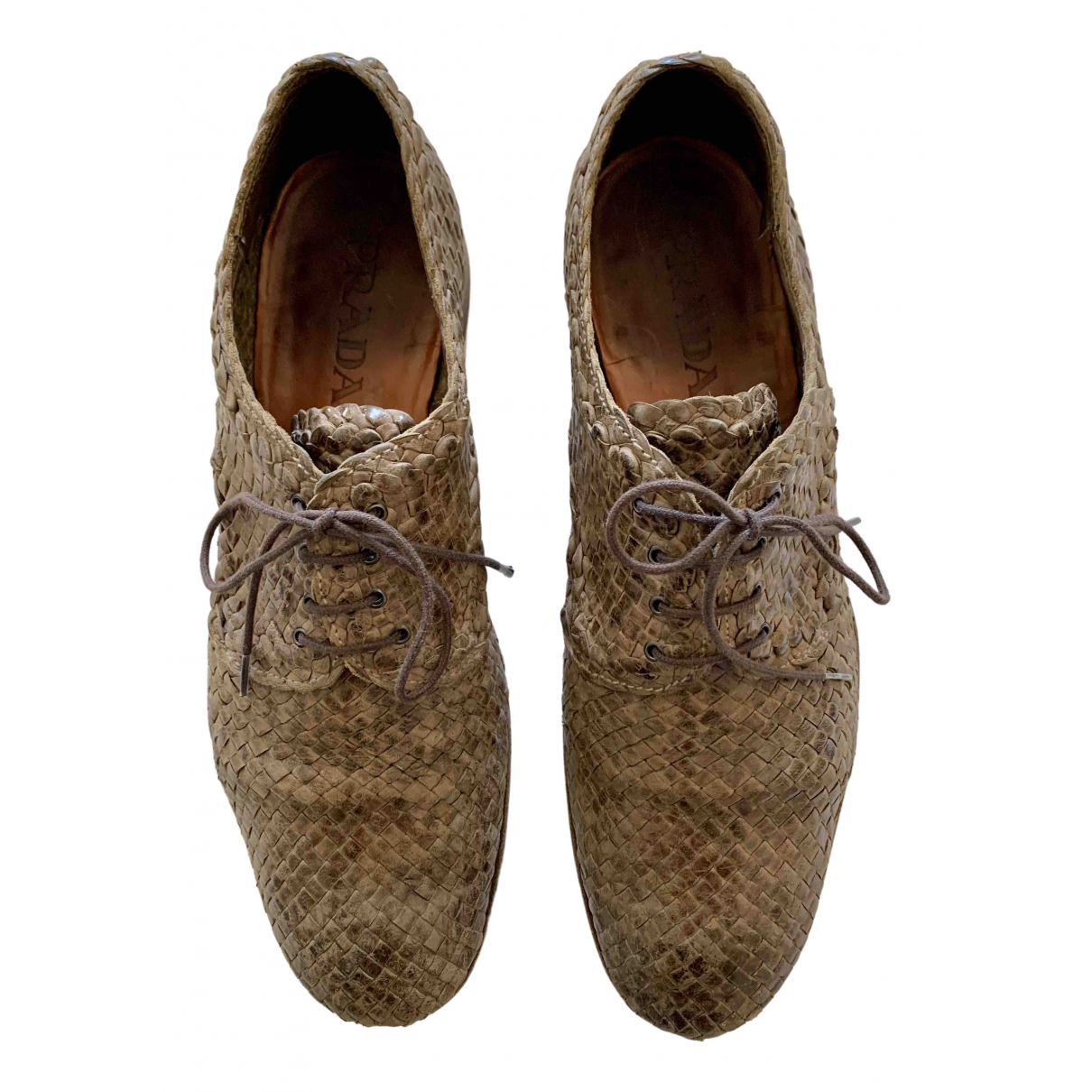 Prada \N Brown Leather Lace ups for Men 7.5 UK