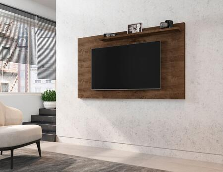 Liberty Collection 221BMC9 TV Panel with 1 Fixed Shelf    Modern Style and Medium Density Particleboard (MDP) Frame in Matte Rustic Brown