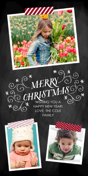Christmas Photo Cards Flat Matte Photo Paper Cards with Envelopes, 4x8, Card & Stationery -DIY Merry Christmas