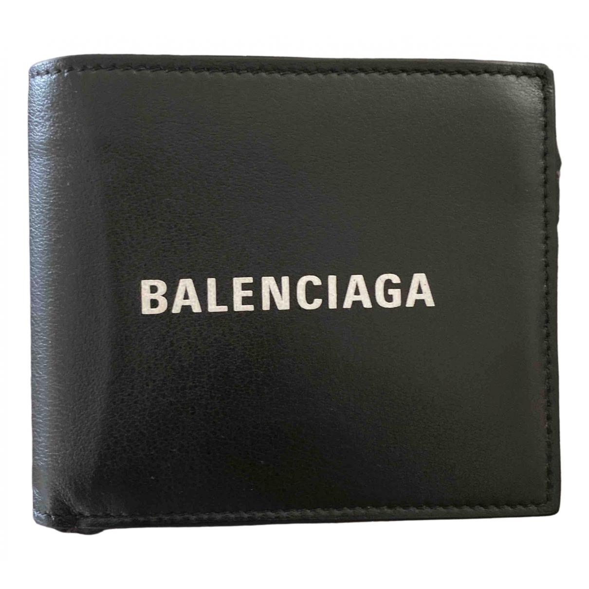 Balenciaga \N Black Leather Small bag, wallet & cases for Men \N