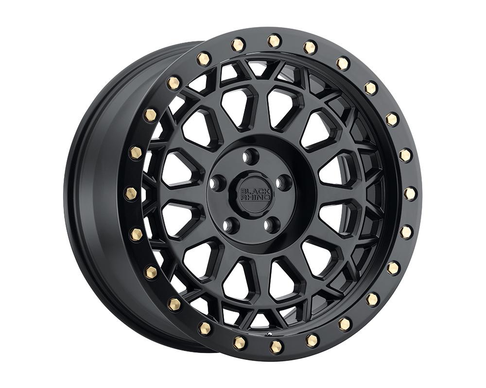Black Rhino Primm Wheel 18x9.5  6x139.7 12mm Matte Black w/Brass Bolts