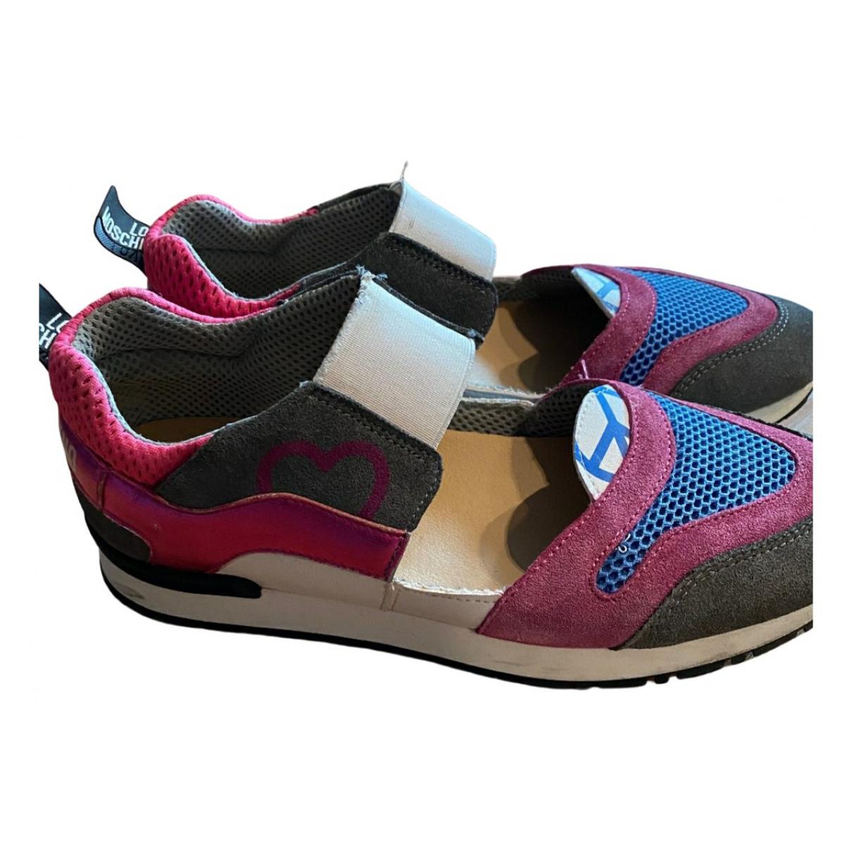Moschino Love - Baskets   pour femme en cuir - multicolore