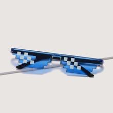 Rimless Mosaic Sunglasses