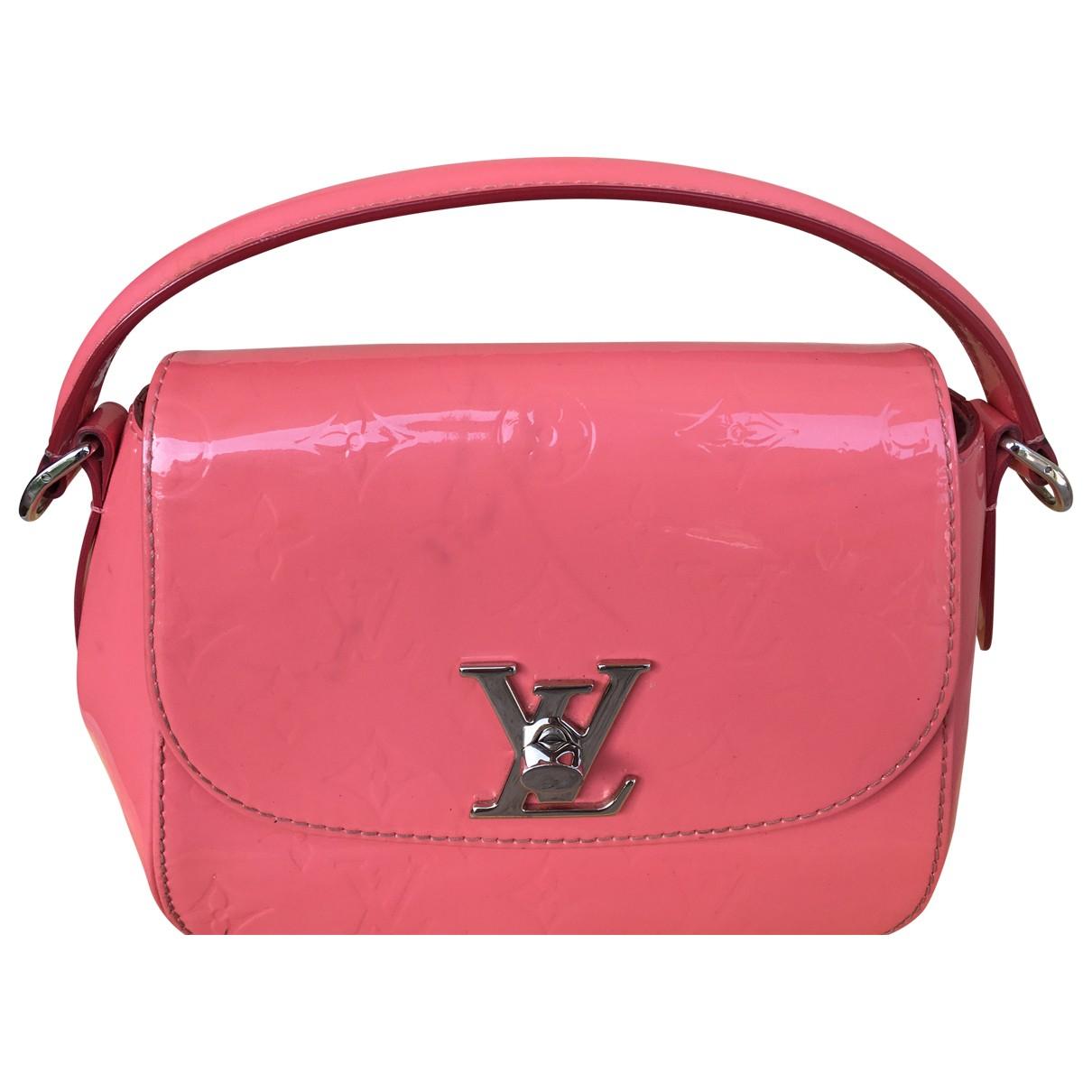 Louis Vuitton - Sac a main Pasadena pour femme en cuir verni - rose