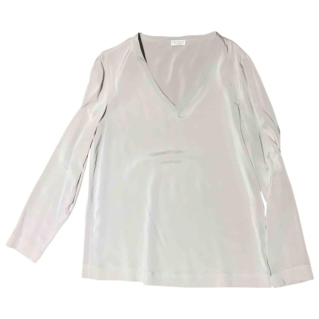Brunello Cucinelli \N Beige Silk  top for Women M International
