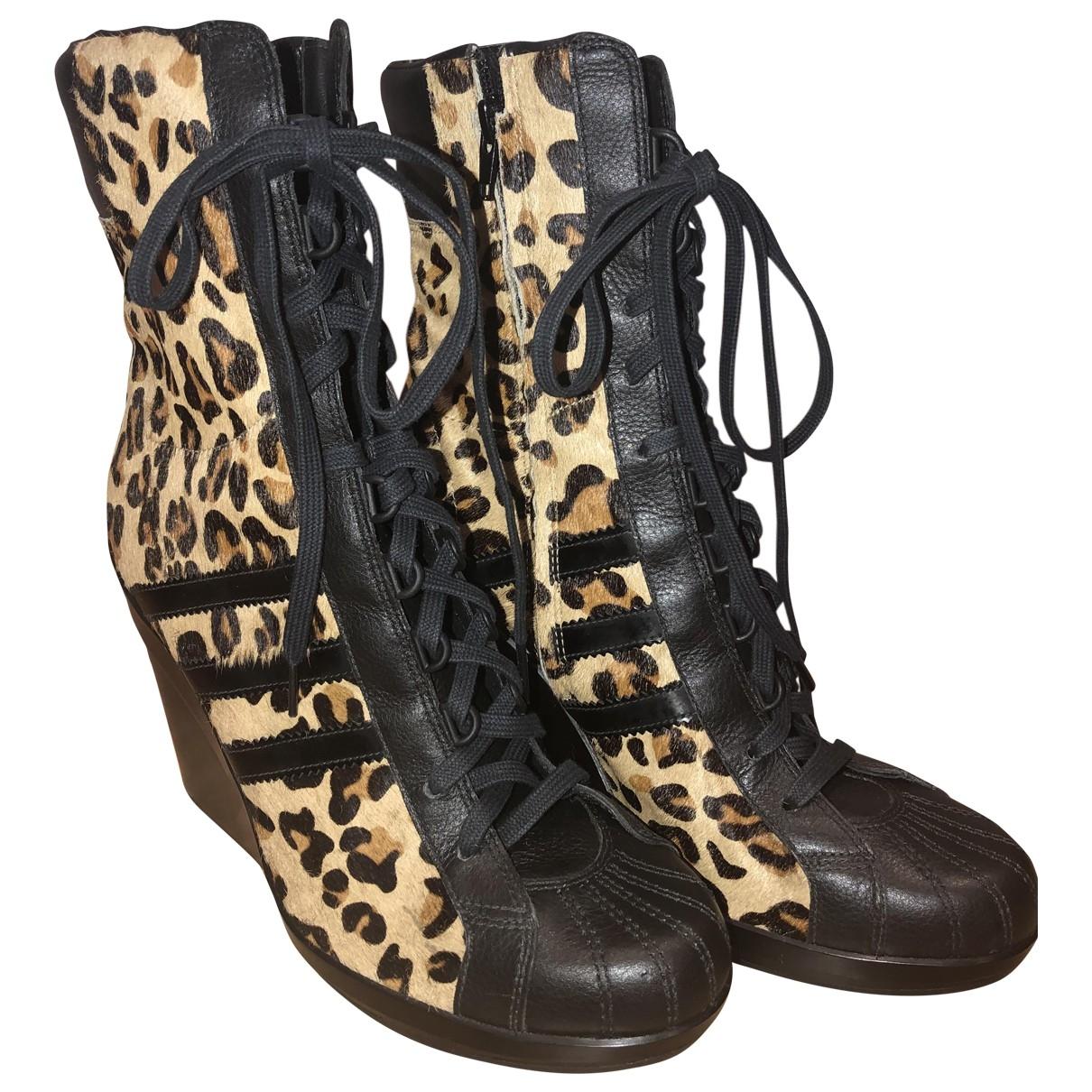 Jeremy Scott Pour Adidas - Boots   pour femme en cuir - multicolore