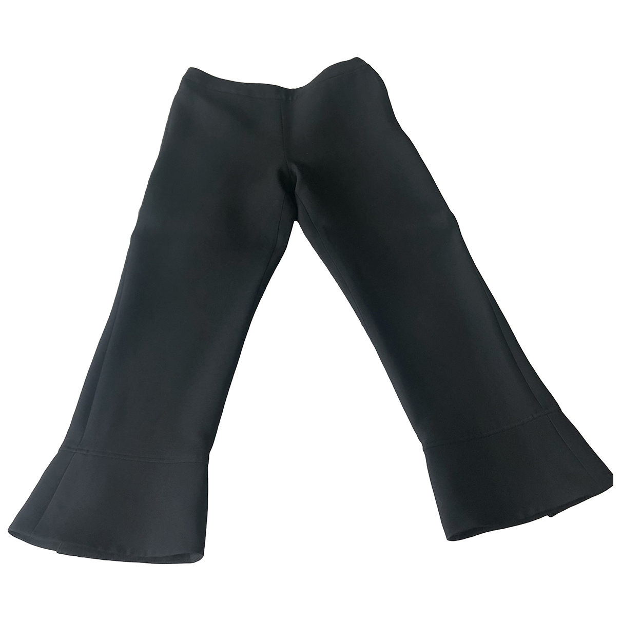 Christian Dior N Black Wool Trousers for Women 36 FR