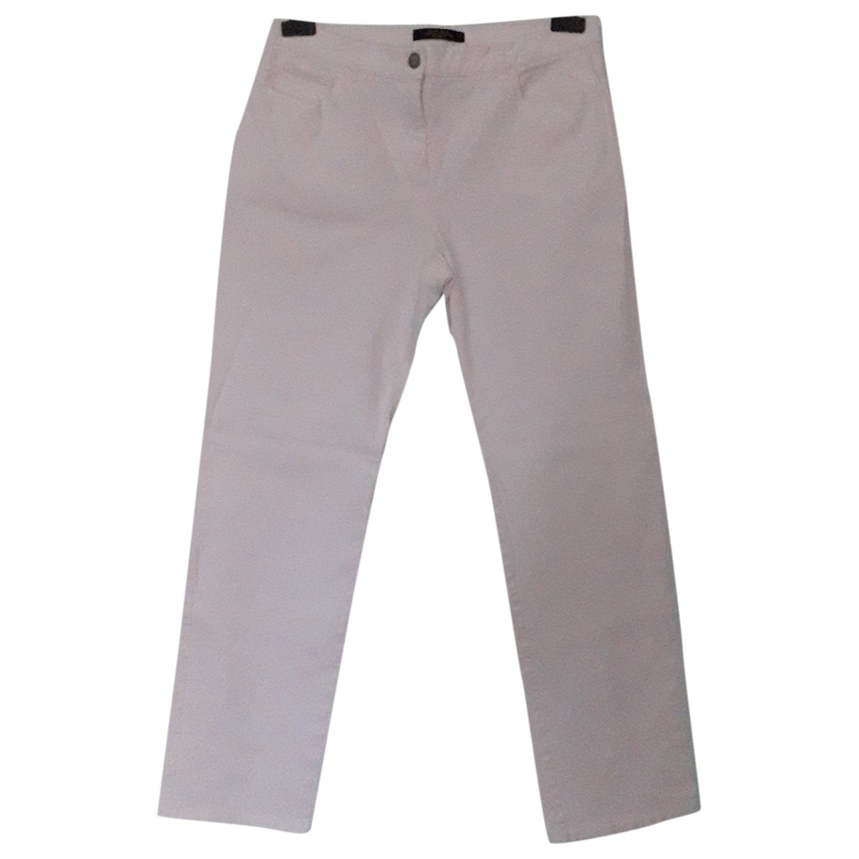 Max Mara Weekend \N White Cotton Trousers for Women 46 IT