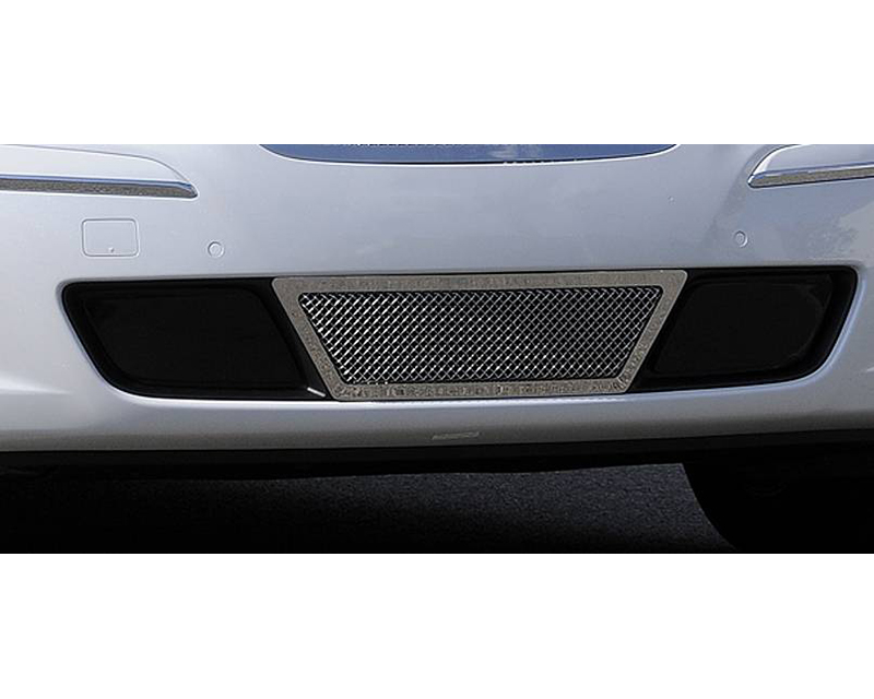 2009-2011 Hyundai Genesis Sedan Upper Class Bumper Grille, Polished, 1 Pc, Overlay, Center Area Only - PN #55495