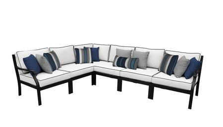 MADISON-06v-SNOW Kathy Ireland Homes and Gardens Madison Ave. 6 Piece Aluminum Patio Set 06v with 2 Sets of Snow