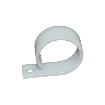 RS PRO Cable Clip Natural Screw Nylon Cable Clip, 26mm Max. Bundle