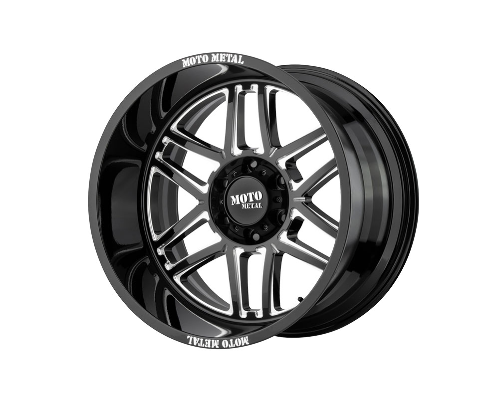 Moto Metal MO99221268344N MO992 Folsom Wheel 20x12 6x6x139.7 -44mm Gloss Black Milled