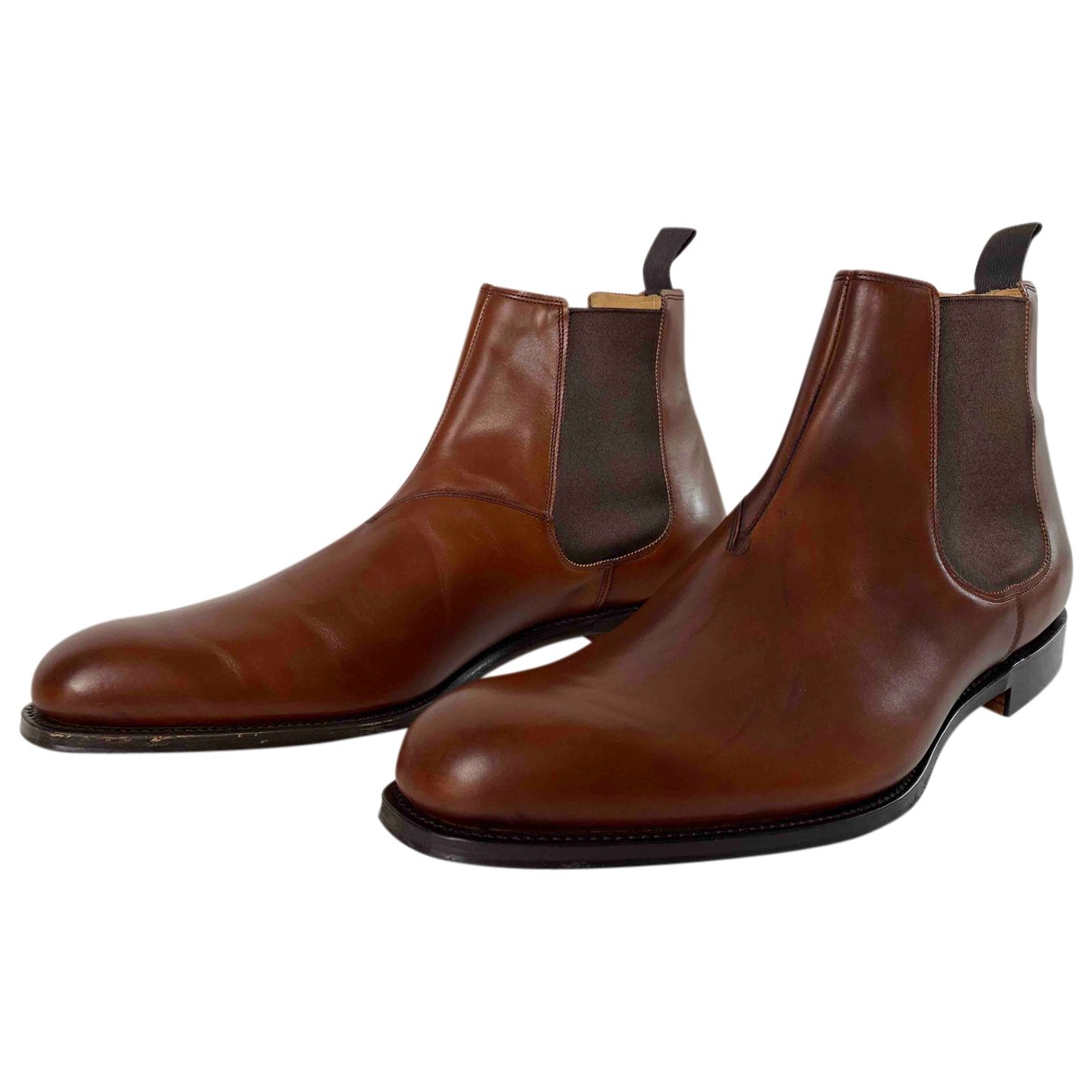 Church's N Brown Leather Boots for Men 12 UK