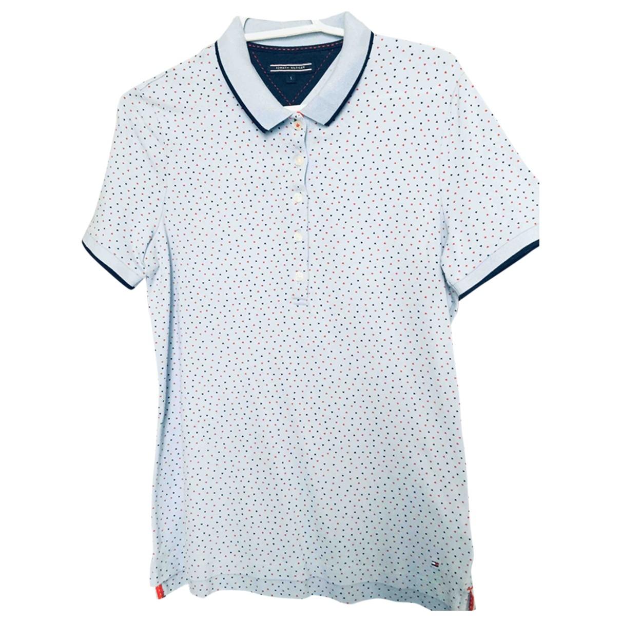 Tommy Hilfiger - Top   pour femme en coton - bleu