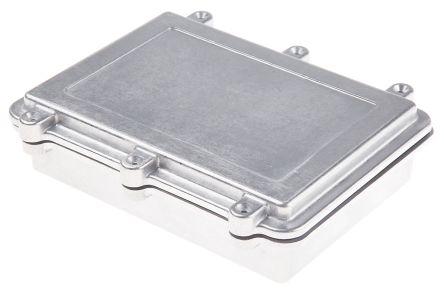 RS PRO Natural Die Cast Aluminium Enclosure, IP67, Shielded, 200 x 150 x 50mm