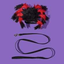 1 Stueck Spinnen formige Katze Geschirr & 1 Stueck Katze Leine