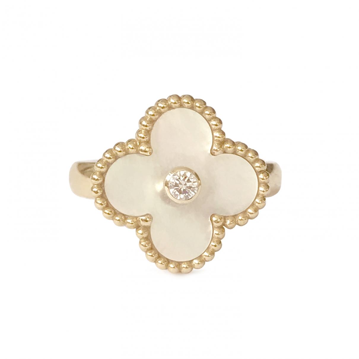 Van Cleef & Arpels Vintage Alhambra Ring in  Weiss Gelbgold