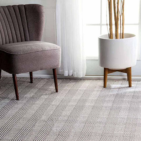 nuLoom Hand Loomed Kimberely Rug, One Size , Gray