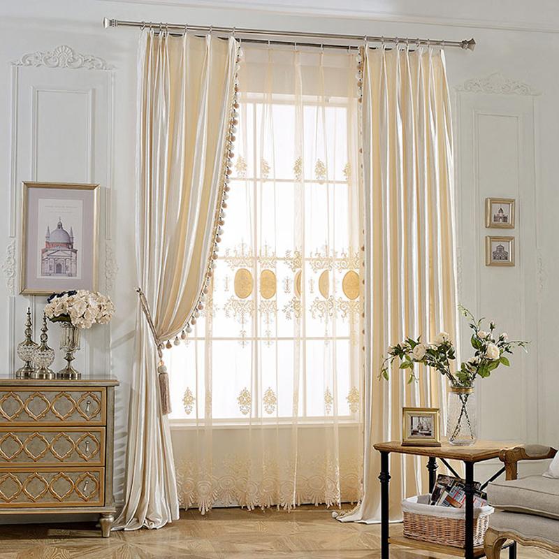 Noble Classic High Quality Milk Silk European Style Custom Sheer Curtain