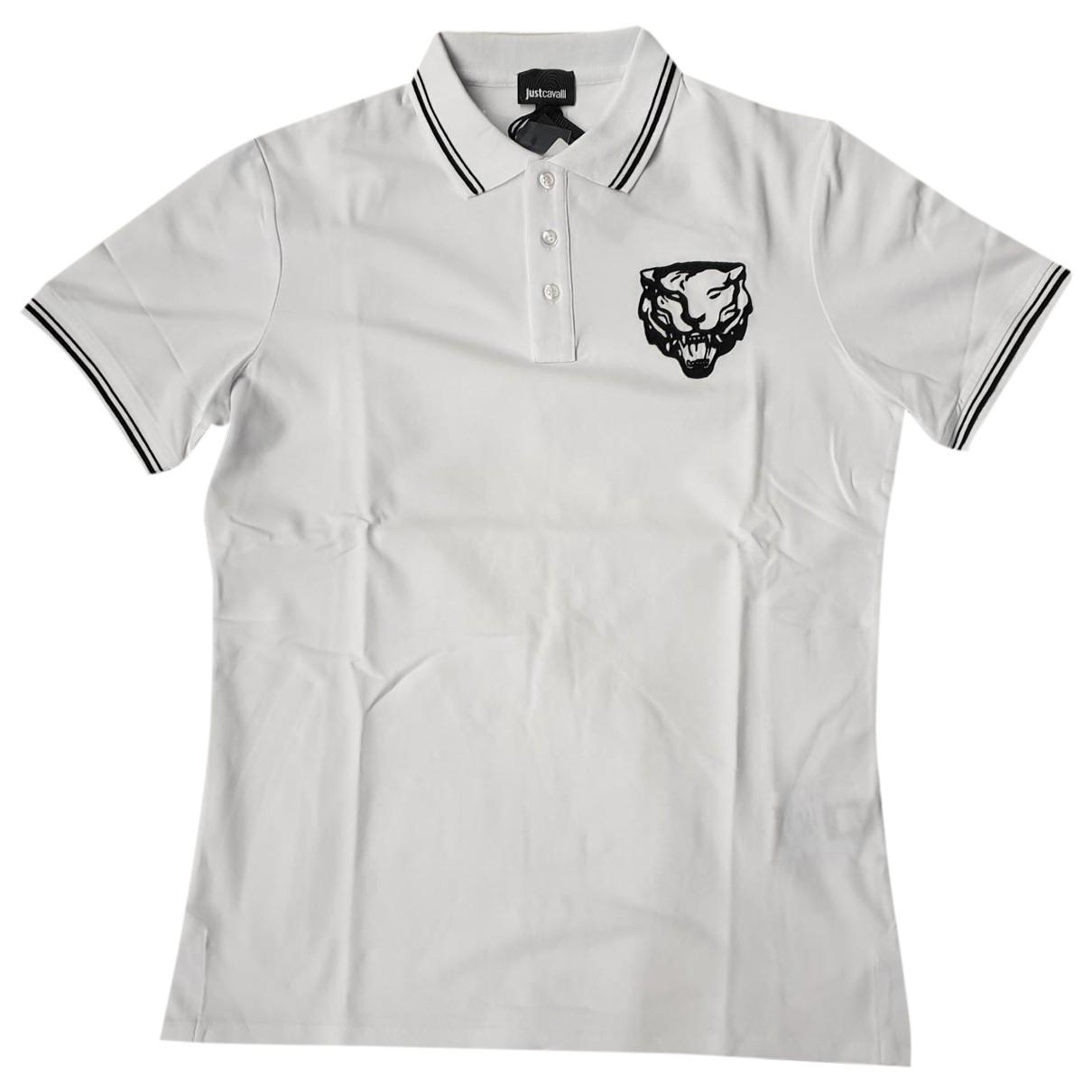 Just Cavalli - Polos   pour homme en coton - blanc