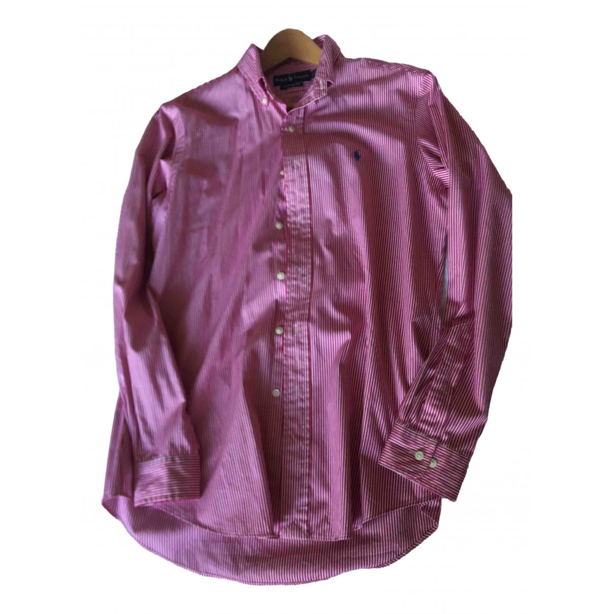 Ralph Lauren \N Burgundy Cotton Shirts for Men 15.5 UK - US (tour de cou / collar)