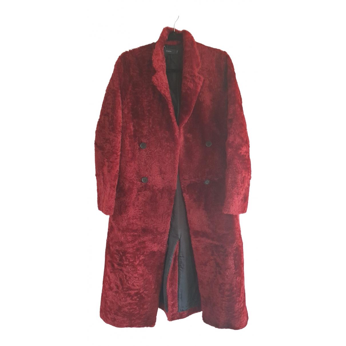Joseph \N Burgundy Mongolian Lamb coat for Women 38 FR