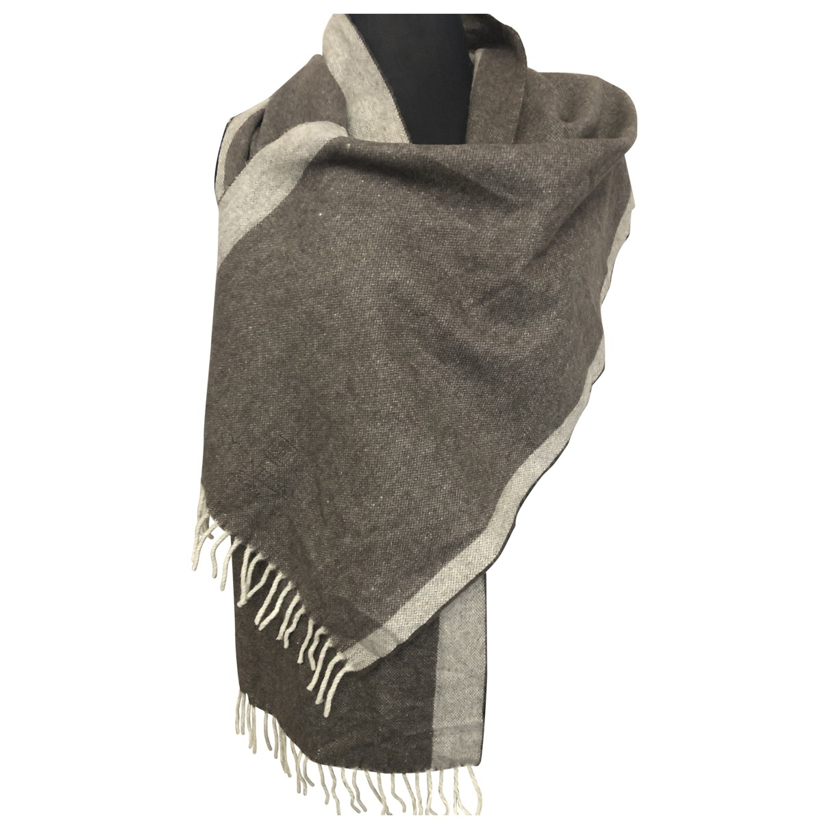Corneliani \N Brown Wool scarf & pocket squares for Men \N