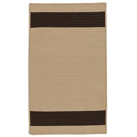 Colonial Mills Tanglewood Stripe Braided Rectangular Reversible Indoor/Outdoor Rugs, One Size , Beige