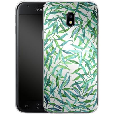 Samsung Galaxy J3 (2017) Silikon Handyhuelle - Palm Print von Becky Starsmore