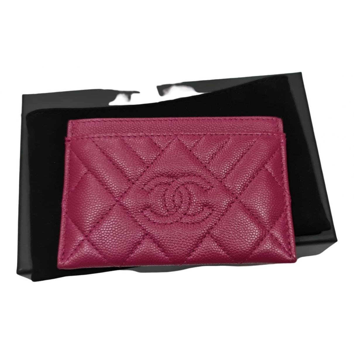 Chanel - Petite maroquinerie   pour femme en cuir - rose