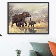 Diamand Malerei mit Elefant Muster ohne Rahmen