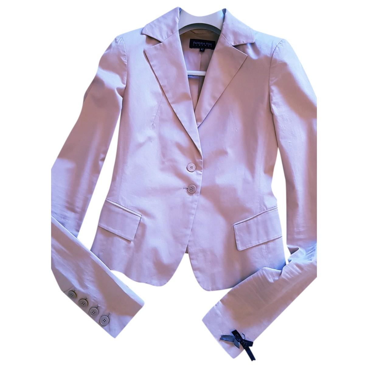 Patrizia Pepe \N Beige Cotton jacket for Women 42 IT