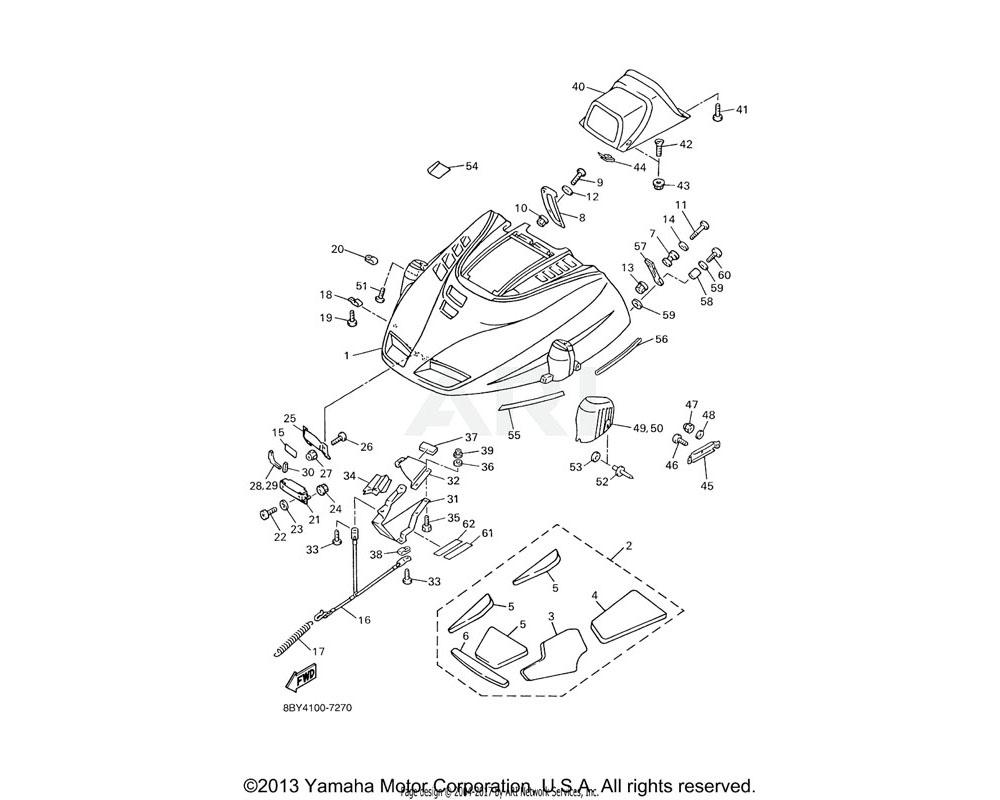 Yamaha OEM 89X-77168-00-00 TRIM 4 | (USA)