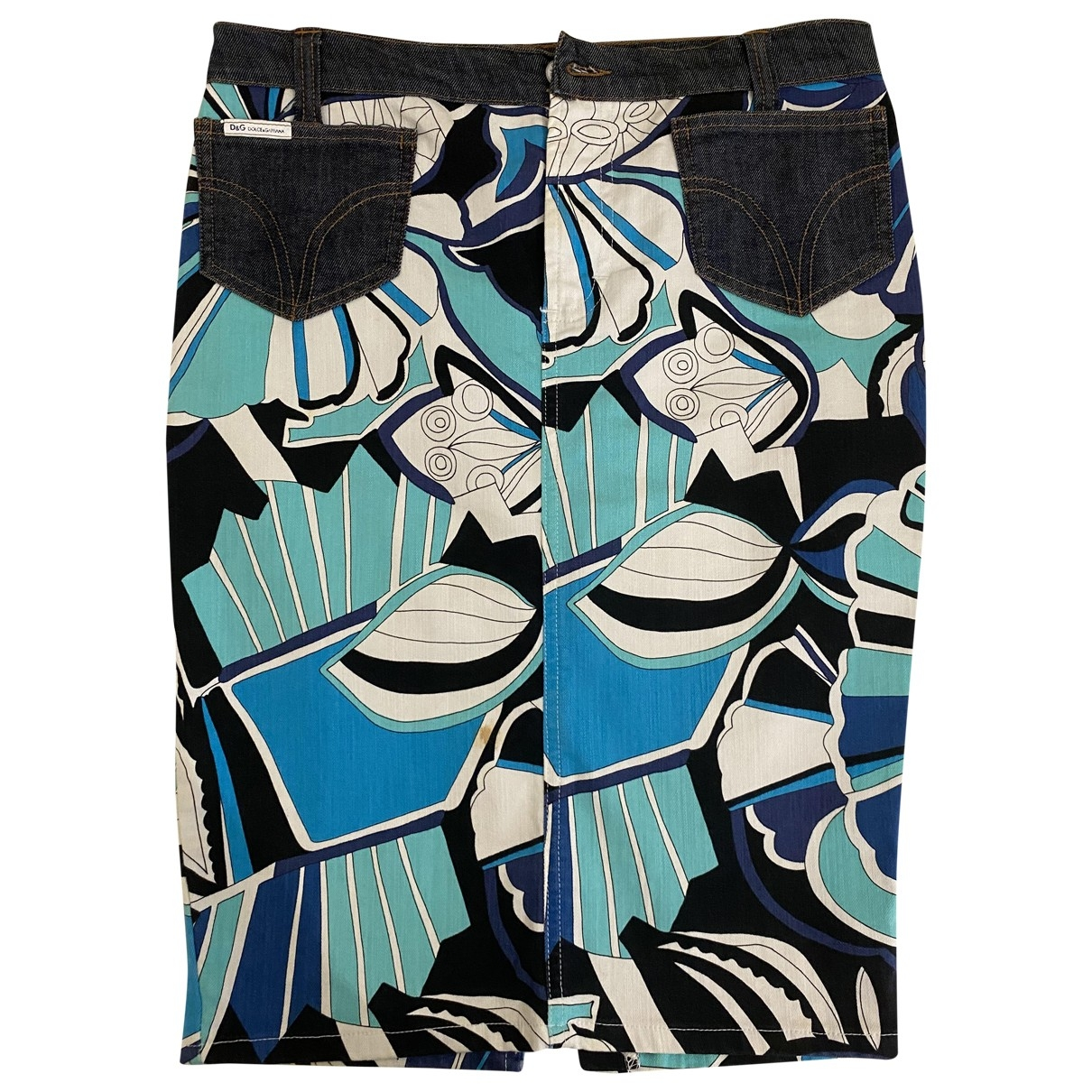 Dolce & Gabbana - Jupe   pour femme en denim - bleu