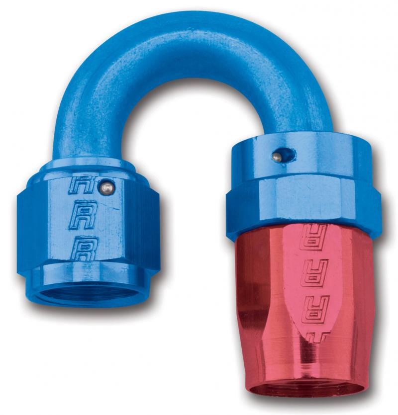 Russell FULL FLOW SWIVEL TIGHT RADIUS HOSE END 180 #16 ANODIZED