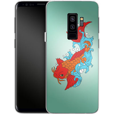 Samsung Galaxy S9 Plus Silikon Handyhuelle - Koi Carp von Mark Ashkenazi
