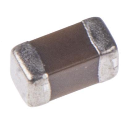 KEMET 0603 (1608M) 220nF Multilayer Ceramic Capacitor MLCC 10V dc ±10% SMD C0603C224K8RACTU (50)