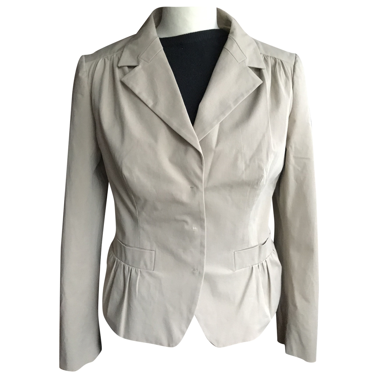 Prada \N Beige Cotton jacket for Women 46 IT