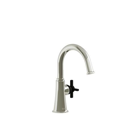 Momenti MMRDS00+PNBK Single Hole Lavatory Faucet with + Cross Handle without Drain 1.5 GPM  in Polished