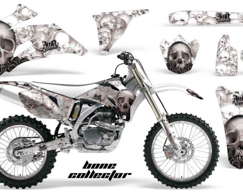 AMR Racing Graphics MX-NP-YAM-YZ250F-YZ450F-06-09-BC K W Kit Decal Wrap + # Plates For Yamaha YZ250F YZ450F 2006-2009áBONES BLACK WHITE